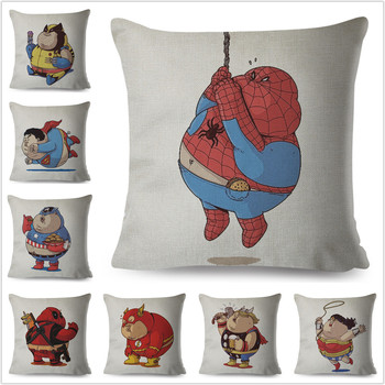 Cute Cartoon Marvel Avenger Hero Food Cushion Cover Sofa Superman Spider man
