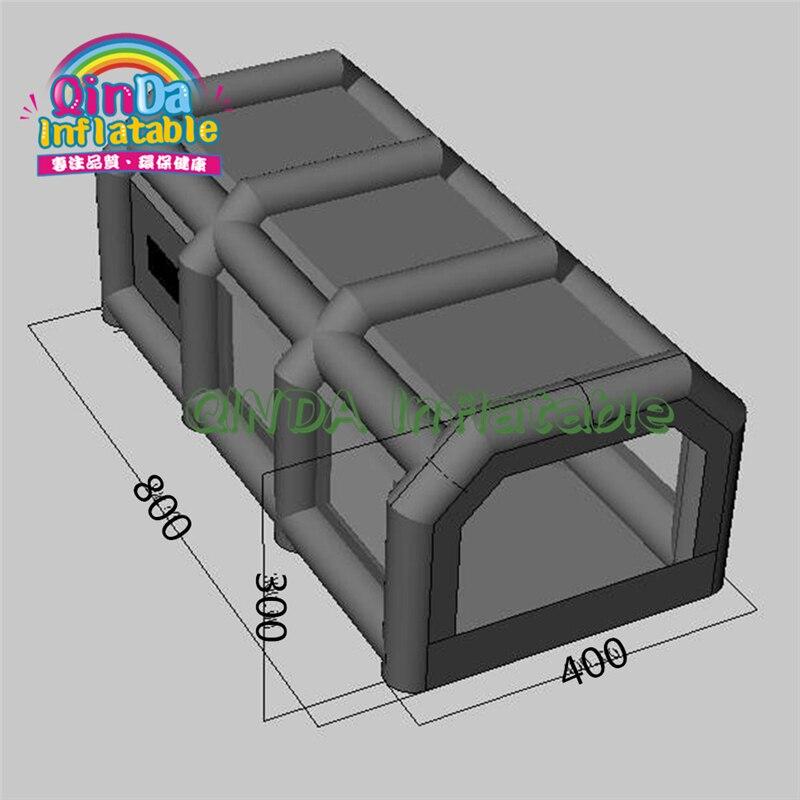 Personalizado Portátil Carro Usado Cabine de Pintura Por Pulverização Inflável para Venda 8*4*3 metros