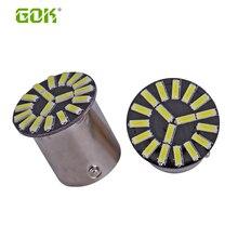 100 STKS 1156 BA15S led 18SMD 4014 led Wit LED Gloeilamp p21w R5W led auto lamp Richtingaanwijzer Reverse Light Auto Lichtbron 12 V