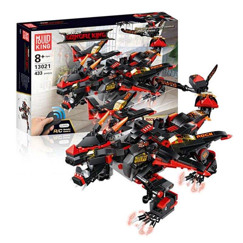 Technologie de contrôle à distance Ninjago dinosaure blocs de construction en plastique modèle assemblage jouets électriques pour enfants garçon cadeau