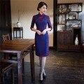 Shanghai Story vestidos Lace cheongsam qipao vintage 1/2 Sleeve Cheongsam chinese traditional dress national trend dress 2 Color
