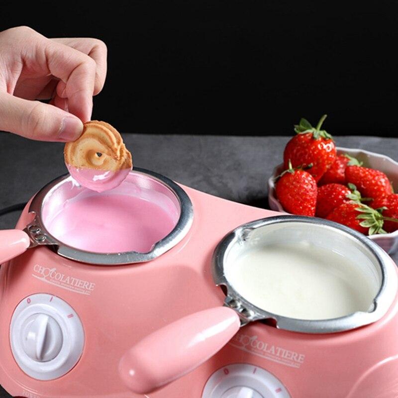 elétrica fondue chocolate derretimento duplo pote melter