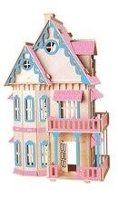 BOHS Gothic Doll House Children Educational Toys Wooden 3d Assembling Building Scale Model of Miniature DIY 30*18*45CM