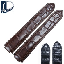 Pesno Suitable for Ballon Blanc De Cartier Alligator Leather Watch Strap Black Brown Genuine Leather Watchband