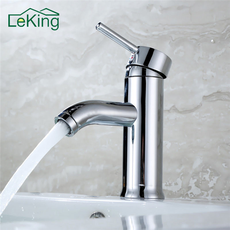 LeKing Bathroom Basin Mixer Faucet Torneira Mixer Tap Single Lever Faucet Lavatory Tall Vessel Sink Basin Mixer Tap Faucets lavatory basin faucets waterfall spout single handle bathroom sink vessel faucet mixer tap tall body solid brass chrome finished