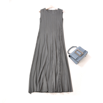 Robes Stock A Sans Bleu ligne Mode light Gratuite En Robe Livraison O Manches cou gris Blue Solide Noir La De marine w7v0nnqRA