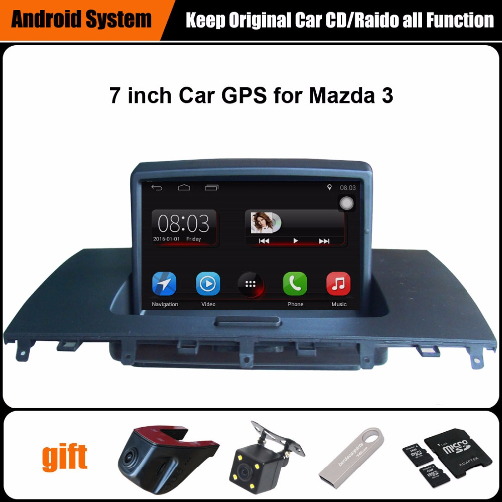 7 inch Android Car GPS Navigation for Mazda 3 Car Radio Video Player Support WiFi Intelligent mobile phone Mirror-link Bluetooth image
