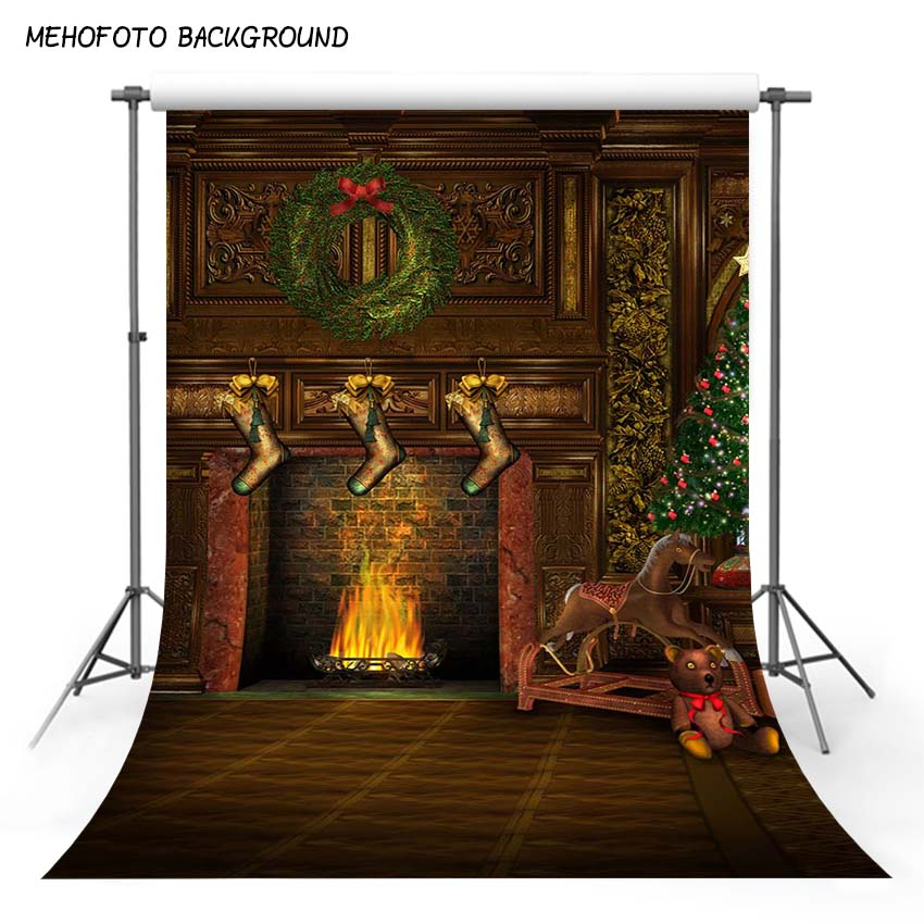 8x12ft Thin Vinyl Christmas Photography Backgrounds Computer Printed Children Photo backdrops for Photo studio ST-153 thin vinyl photography cloth computer printed children photography backdrops christmas theme background for photo studio st 756