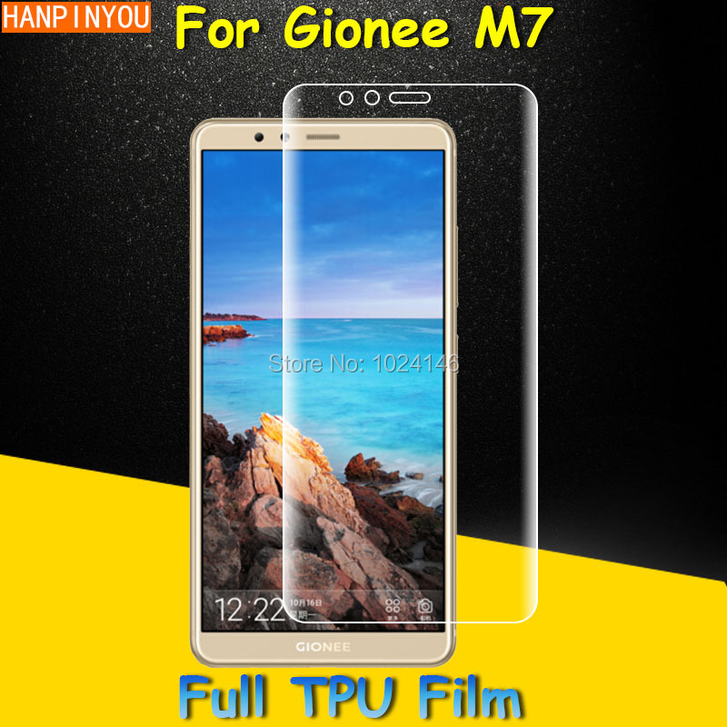 Front Full Coverage Clear Soft TPU Film Screen Protector For Gionee M7 6.01 , Cover Curved Parts (Not Tempered Glass)