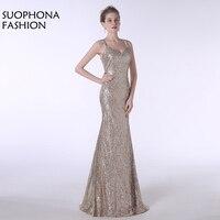 Chegada nova Spaghetti Strap Sereia vestidos Illusion Vestido festa Formal vestido vestido de festa vestidos de Noite Plus Size