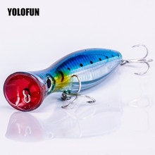 Best 12cm 42g Hard Lure Big Popper 4 Colors Top Water Fishing Lures Crankbait Minnow Swimming Crank Baits pesca