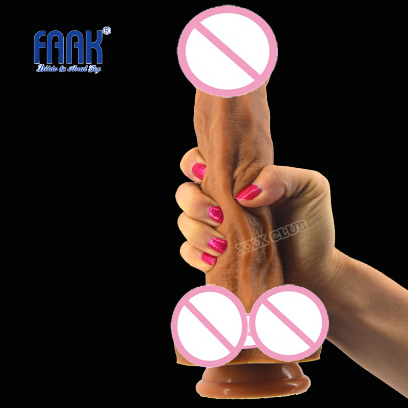 Faak Realistic Dildo Suction Cup Male Artificial Penis Large Flexible Dick Sex Toys For Woman Adult Masturbator Dildos For Women hot silicone vibration dildo realistic suction cup dildo male artificial penis dick female masturbator adult sex toys for woman