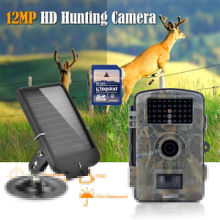 Free shipping!RD1001 8GB 720P Wildlife Hunting Camera Infrared Video Trail Black 940nm+Solar Battery