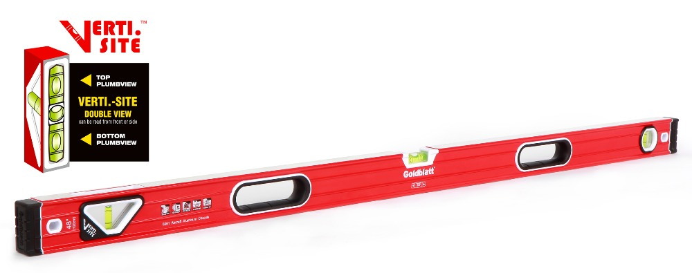 GOLDBLATT 48 Spirit Level Double View I-Box Level Bubble Level Professional Level 120cm цена