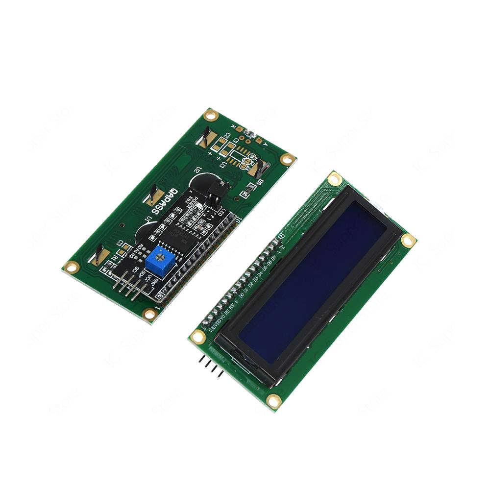 1 takım 2004 + IIC/I2C LCD 2004 20x4/1602 16x2 karakter LCD ekran modülü HD44780 denetleyici mavi ekran arka