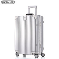 UNIWALKER Unisex Fashion Travel Large Capacity High Quality Luggage Free Shipping Rolling Hardside Luggage Rolling Trolley