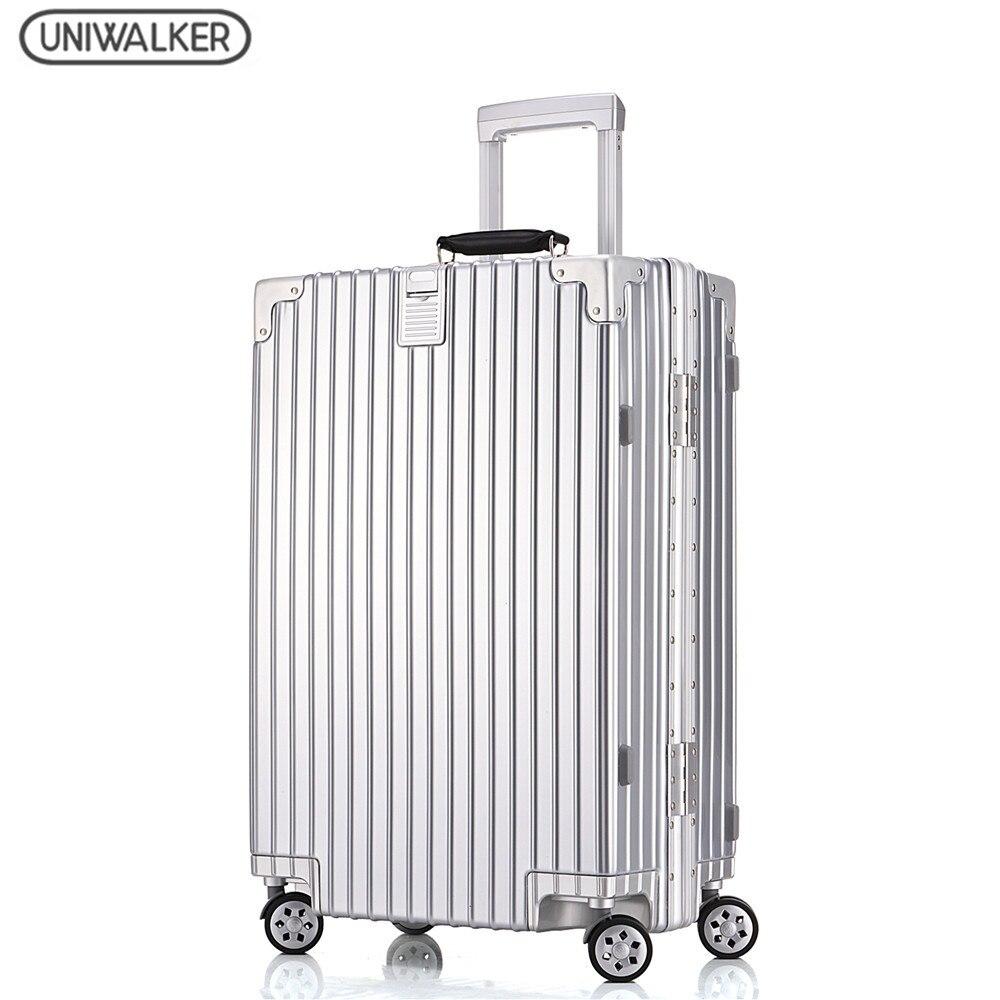 UNIWALKER Unisexe Mode Voyage Grande Capacité Haute Qualité Bagages Livraison Gratuite Roulant Hardside Bagages Chariot Roulant