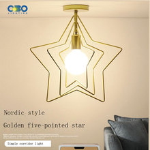 Creative star led Modern ceiling lamp  brief iron living room  bedroom Lighing Free shipping free shipping led living room wall lamp modern brief ofhead lamps bottle lamp 1276