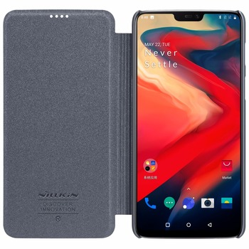 Oneplus 6 5 5T cover Case NILLKIN Sparkle super thin flip cover PU leather case for One plus 6 Oneplus6 5 T