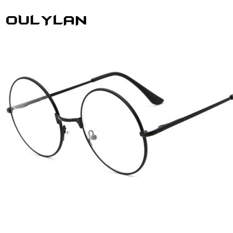 Oulylan Round Myopia Glasses Men Metal Frame Glasses Retro Eyeglasses For Women Optical Vintage Spectacles Diopter +1.5 +4.0