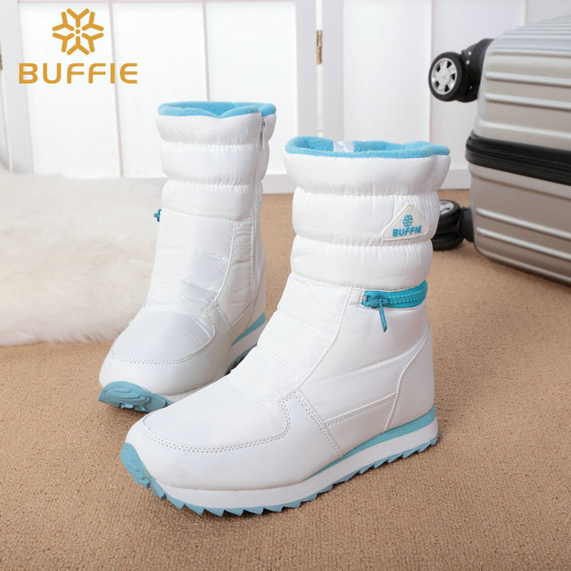 white winter boots women fashion snow boots new style zipper easy wearing autumn shoes high quality fast free shipping girl boot
