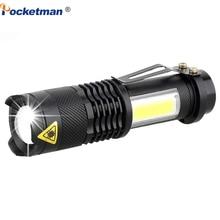 3800LM LED Flashlight Portable Mini XML Q5+COB Zoom 4 Modes torch flashlight Use AA 14500 Battery Waterproof Lighting lantern