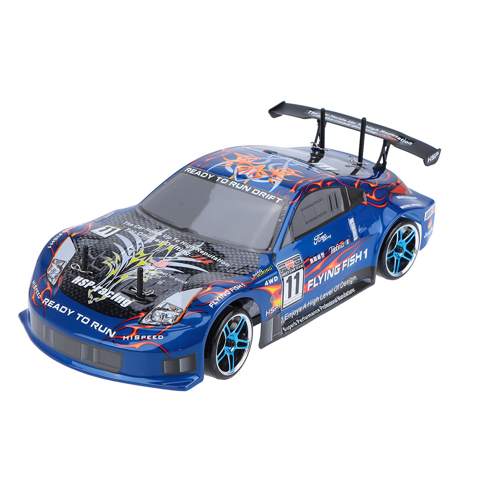 New Original HSP 94123 2.4Ghz Eletronic Powered Brushless ESC 1/10 Flying Fish On-road 4WD RC Drift Car with 12307 Body RTR
