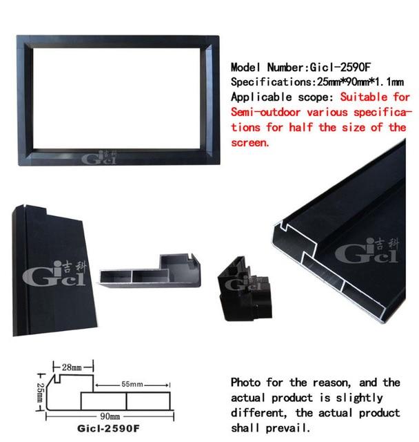 2 セット P10 屋内 led ディスプレイモジュールフレーム、 LED 画面サイズ: 96 センチメートル * 32 センチメートル、 gicl 2590F P5/P6/P7.62/P10 led ディスプレイアルミ合金フレーム