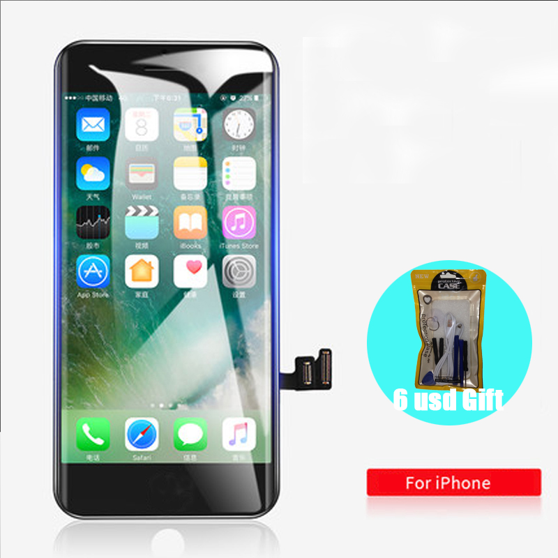 [6 USD GIFT] Display for <font><b>iPhone</b></font> 6 6S 7 <font><b>8</b></font> <font><b>LCD</b></font> Screen Replacement Assembly <font><b>Ecran</b></font> + Touch Panel Black White OEM AAAA Quality image