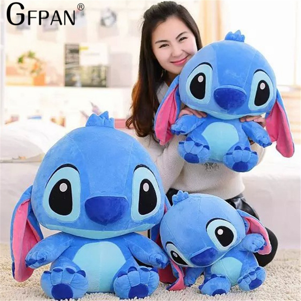 Huge Size 80cm Lovely Stitch Plush Doll Anime Lilo and Stitch Cute Stich Stuffed Cartoon Toys for Children Kids Birthday Gift - 3