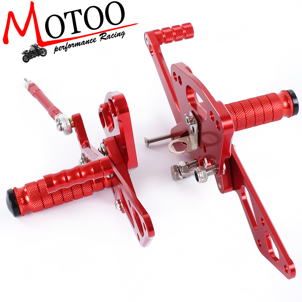 Motoo - Full CNC Aluminum Motorcycle Rearset Rear Set For KAWASAKI Z1000 ABS 2011-2016