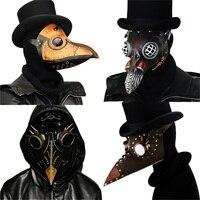 Стимпанк маска Чумного доктора маска врачебная маска из искусственной кожи птица маска с клювом Готический Ретро Рок Хэллоуин Косплэй маск...