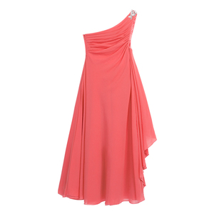 Image 3 - Kwiat dziewczyny sukienka szyfonowa sukienka Rhinestone dzieci dziewczyny jedno ramię dla księżniczki na konkurs piękności druhna ślubna sukienka na przyjęcie urodzinowe