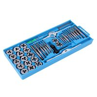 40pcs/set Tap and Die Set with Case Tapping Threading Chasing Repair, Metric Tap and Die Screw Extractor Set