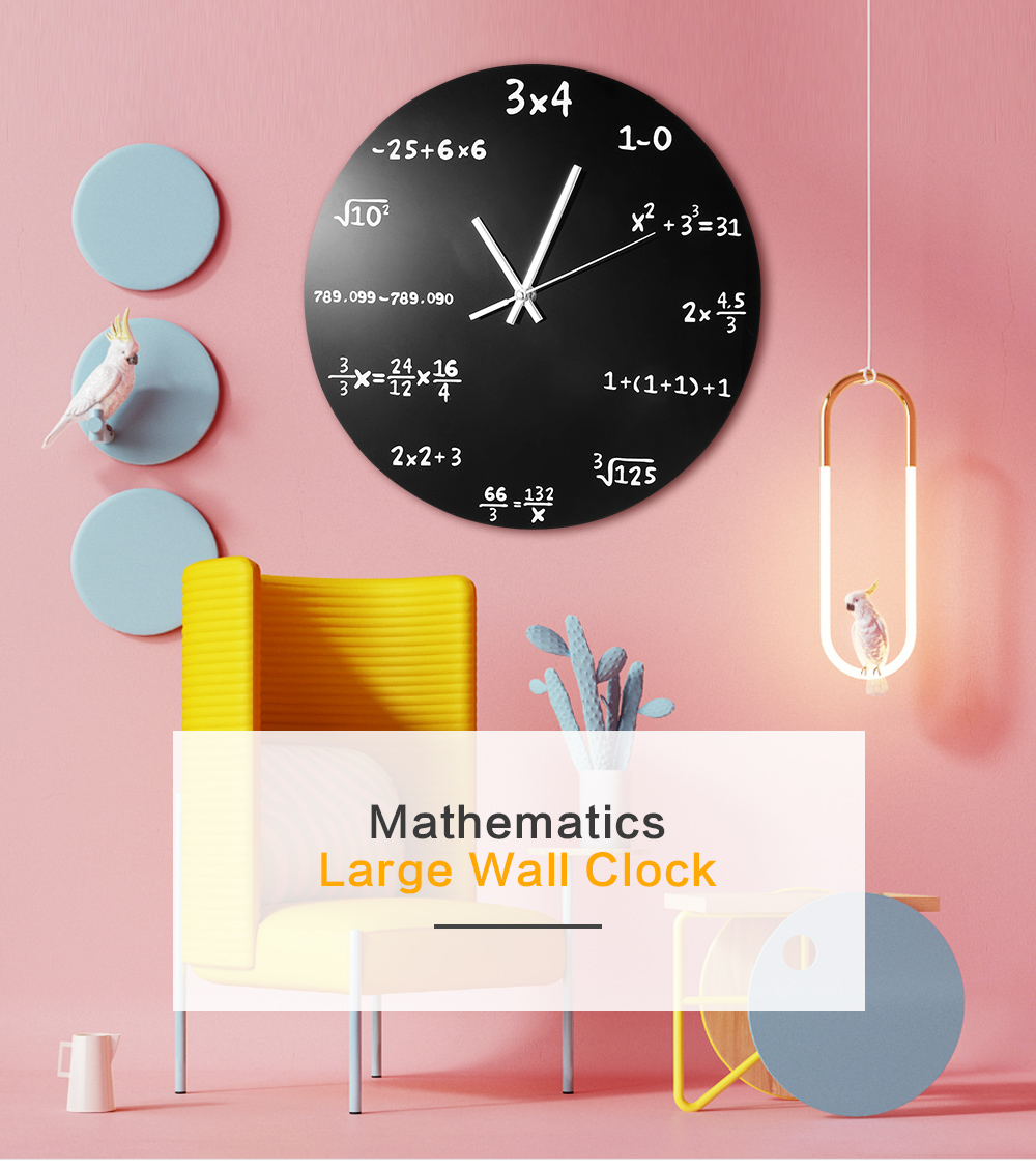 Grande Orologio Da Parete Matematica Lavagna Pop Quiz della Cucina ...