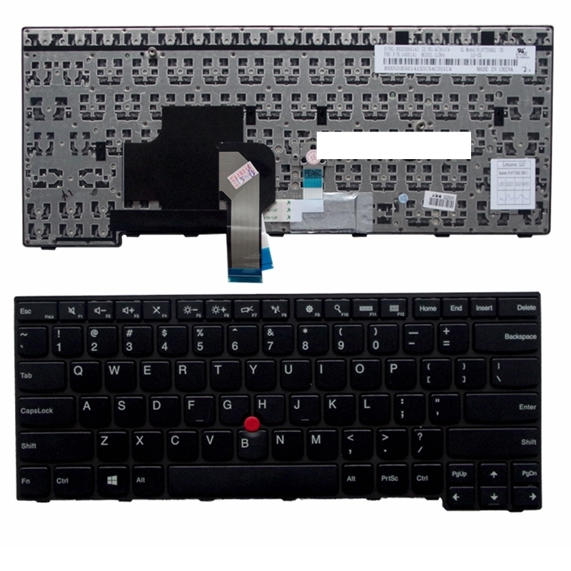 US Black New English <font><b>Replace</b></font> laptop <font><b>keyboard</b></font> For IBM For <font><b>Thinkpad</b></font> <font><b>E450</b></font> E455 E450C T450 W450 With pointing sticks image