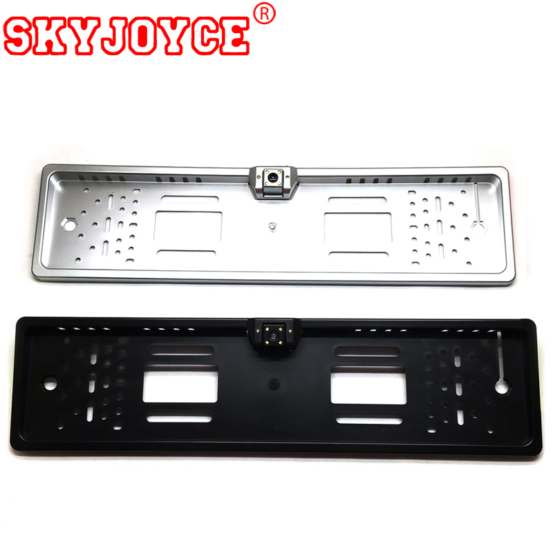 SKYJOYCE Europese nummerplaat frame camera led backup parking achteruitrijcamera Rusland auto's achteruitrijcamera CCD HD auto camera