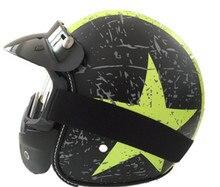 Free shipping half face Motorcycle helmet retro matt black halley open face electric car high quality Harley helmet brands
