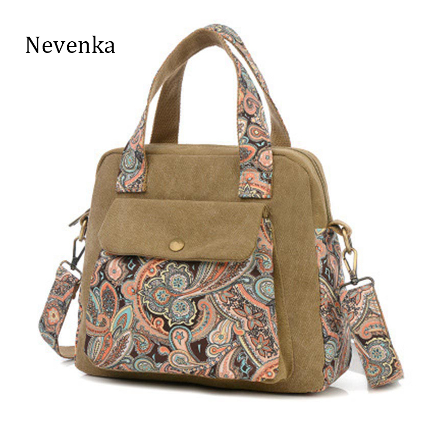 Nevenka Messenge Bag Women Handbag Vintage Print Flower Canvas Large Tote Fashion Shoulder bag Women Purse For Women Fashion Sac 18v 6000mah rechargeable battery built in sony 18650 vtc6 li ion batteries replacement power tool battery for makita bl1860