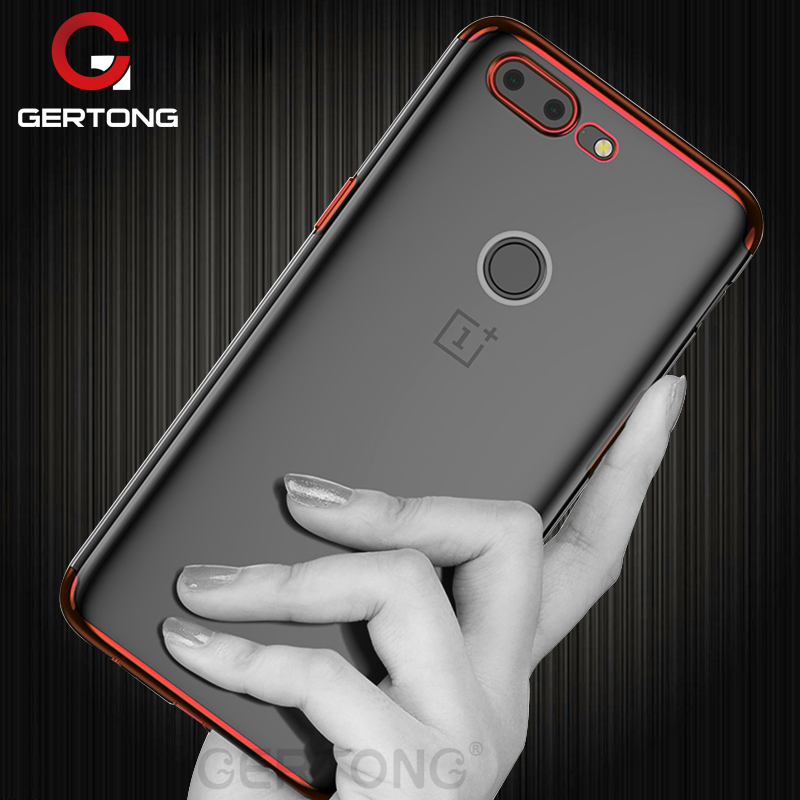 GerTong Transparent Luxury Phone Case for Oneplus 5 5T 6 TPU Protective Shell Back Cover for One plus 5 T 6 Mobile Phone Housing