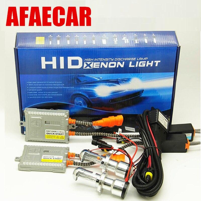 1 set Bi Xenon 55W H4 Hi Low 12V AC HID H4 3 bi xenon Automotive