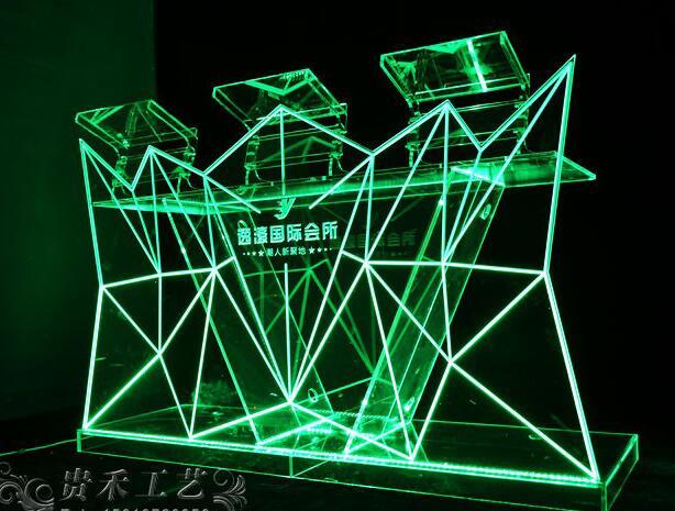 GH-C019 New Design Led Bar Counter/ Illuminated Table/ Led Illuminated Furniture Transparent Acrylic L150* W55*H120cm