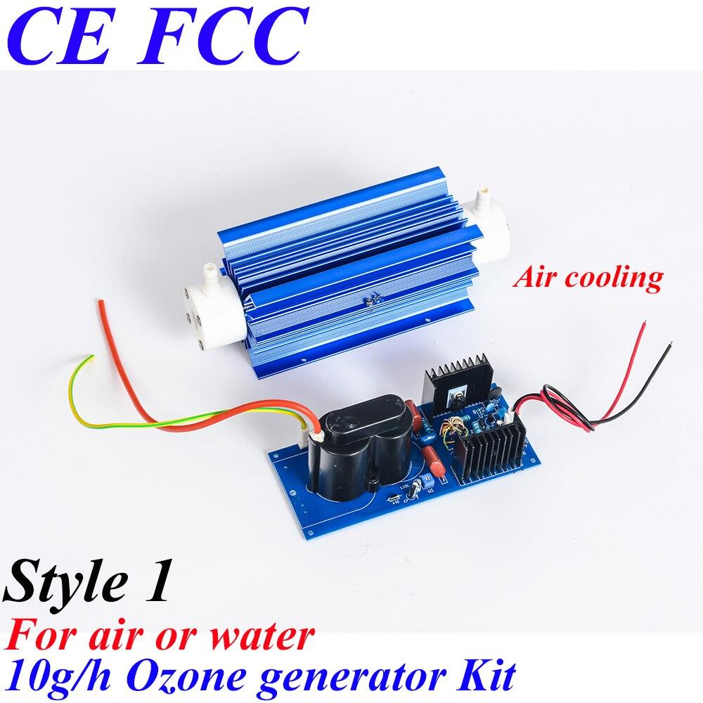 Pinuslongaeva CE EMC LVD FCC 10g/h Quartz tube type ozone generator Kit small domestic ozone generator parts