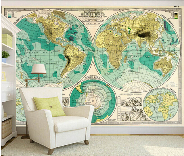 Custom retro wallpaperthe world map of the wall is used to the custom retro wallpaperthe world map of the wall is used to the living room gumiabroncs Gallery