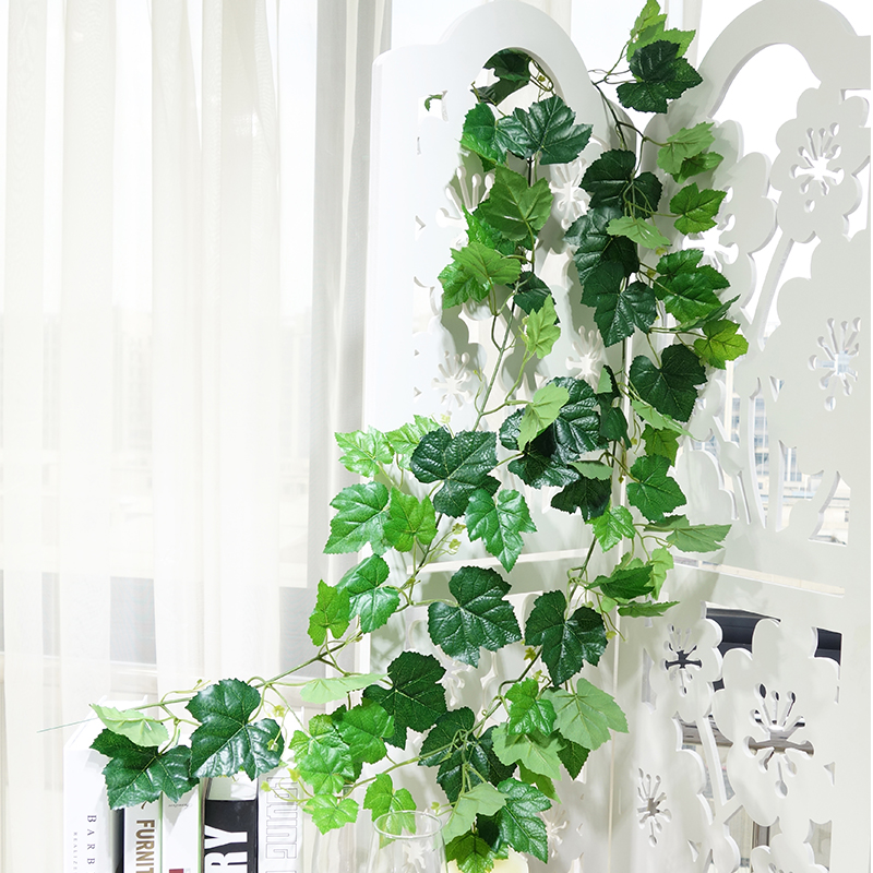 Artificial Ivy latex Leaves Garland Plants Plastic green long Vine Fake Foliage flower Home Wall Wedding decoration landscaping