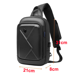 Image 3 - ARCTIC HUNTER New mens chest bag shoulder bag casual Messenger bag youth business travel large capacity multi function bag