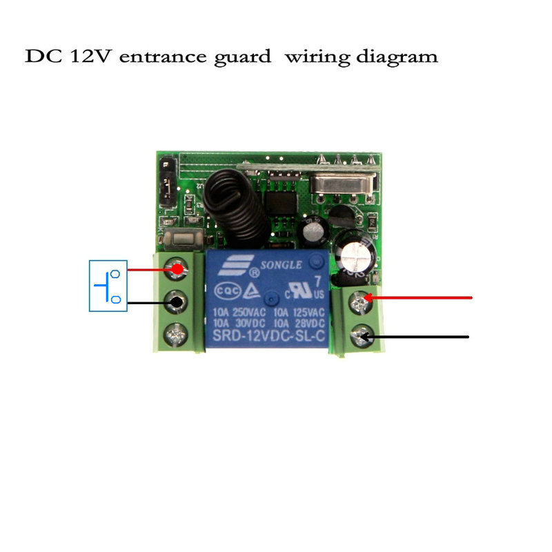 US $488Mini Wireless RF Remote Control Light Switch 10A Relay Output  Radio DC 12V 1 CH Channel 1CH Receiver Module +Transmitter-in Switches from