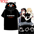 Japanese Kawaii Clothes Kumamon Tops Anime Summer Style Harajuku Shirt With Hooded Short Sleeve Lolita Shirt Girls T-shirt WXC