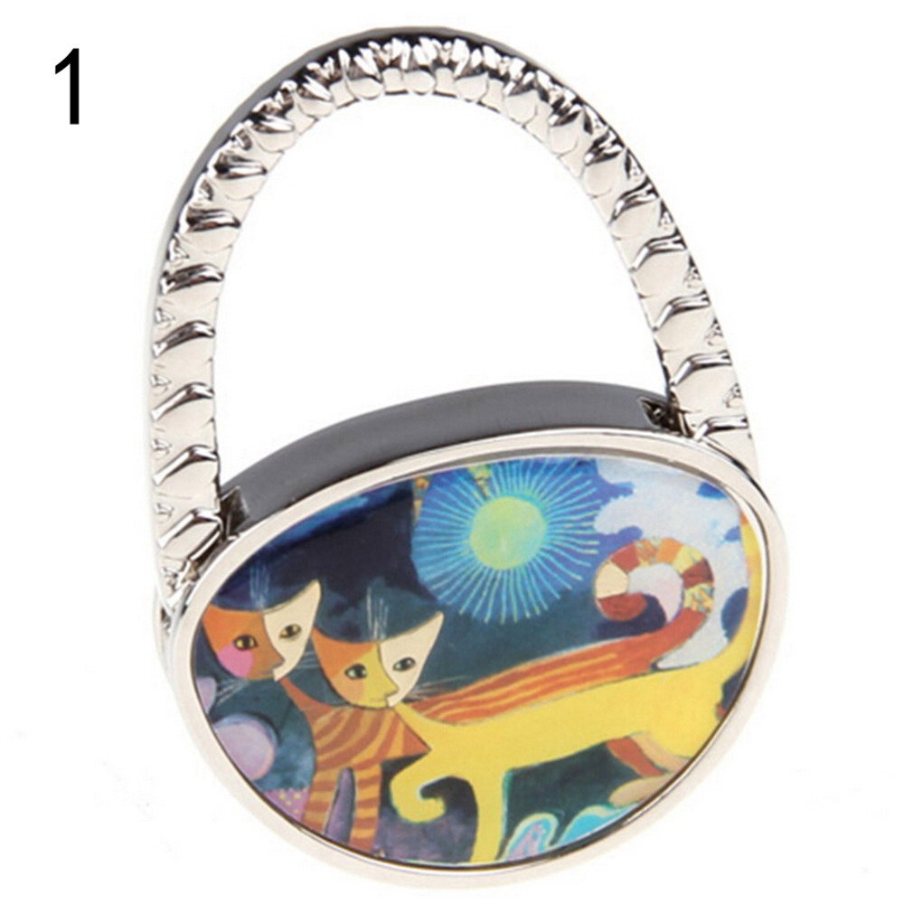 Bathroom Hardware Set Folding Butterfly Handbag Purse Metal Rhinestone Hook Hanger Holder 2.2x1.7