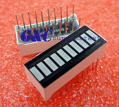 10PCS 10 Segment Digital Red LED Bar Graph Display Ultra Bright